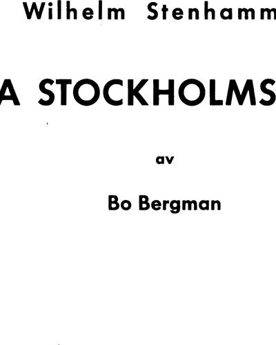 Fyra Stockholmsdikter