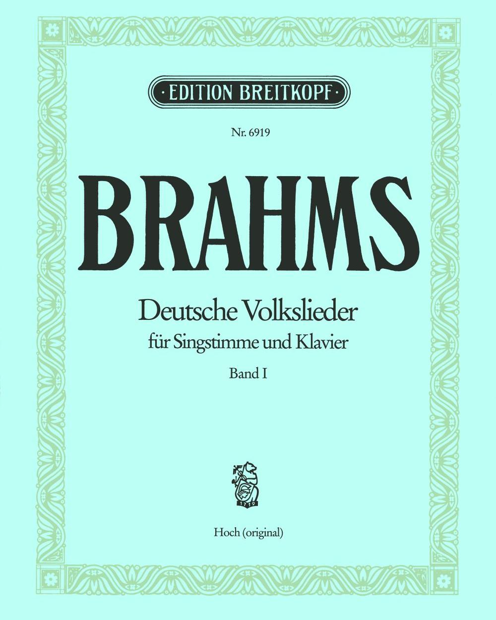Deutsche Volkslieder WoO 33 - Bd I: Nr. 1 - 21 (Ausgabe für hohe Stimme und Klavier)