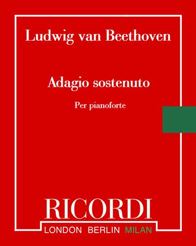 """Adagio sostenuto (dalla sonata Op. 27 n. 2 """"Al chiaro di luna"""") - Per pianoforte"""