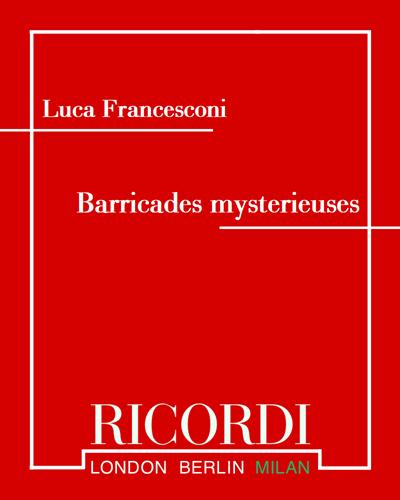 Barricades mysterieuses