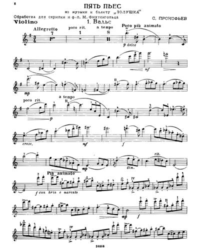 "Five Pieces (from ""Cinderella"")"