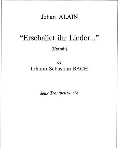 """""""Erschallet ihr Lieder..."""" (BWV 172)"""
