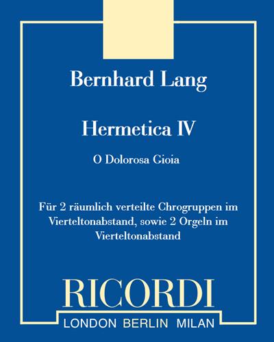 """Hermetica IV """"O Dolorosa Gioia"""""""