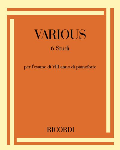 6 Studi per l'esame di VIII anno di pianoforte