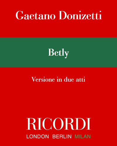 Betly - Versione in due atti