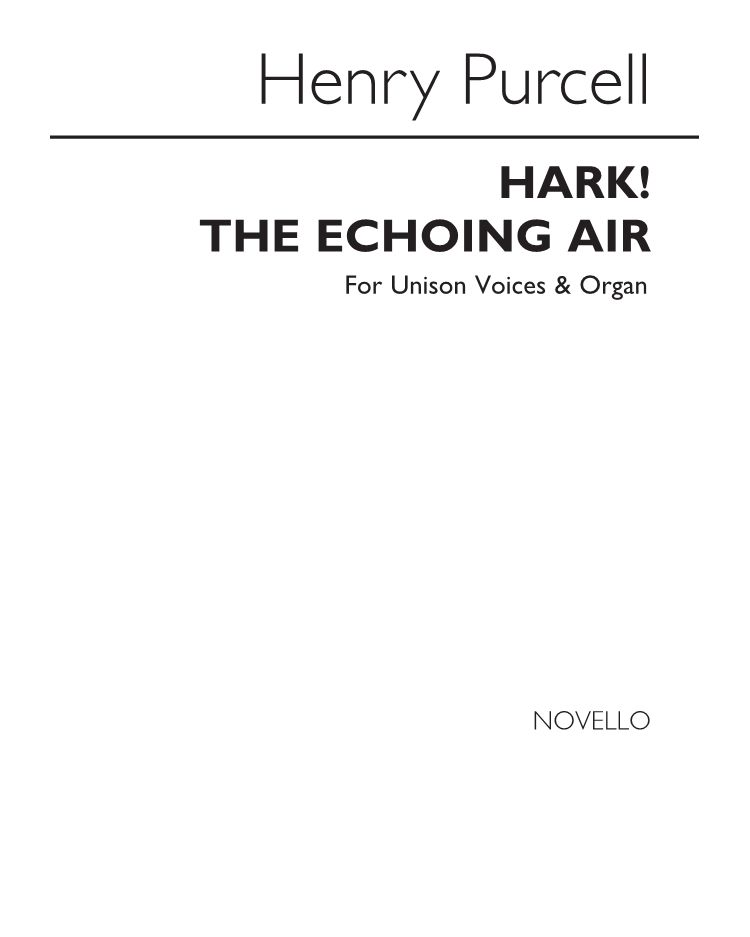 "Hark! The echoing air (From ""The Fairy Queen"")"