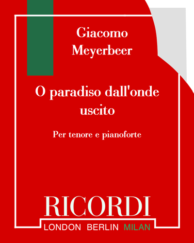 "O paradiso dall'onde uscito (dall'opera ""L'Africana"")"