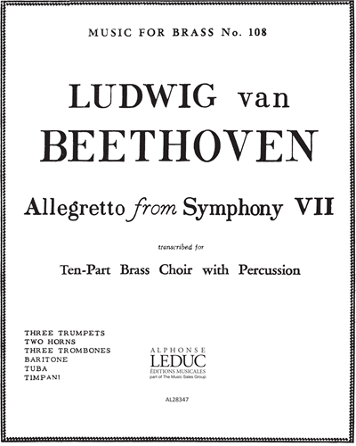 """Allegretto (from """"Symphony No. 7"""")"""
