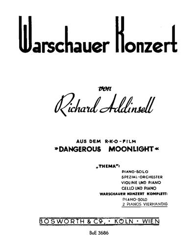 """Warschauer Konzert (aus dem R.K.O-Film """"Dangerous Moonlight"""") für 2 Pianos Vierhändig"""