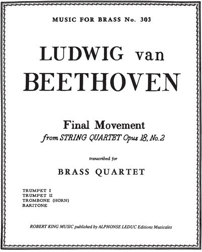 Final Movement (from String Quartet Op. 18, No. 2)