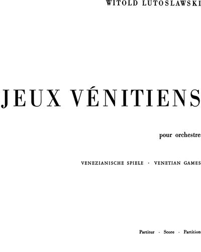 Jeux vénitiens