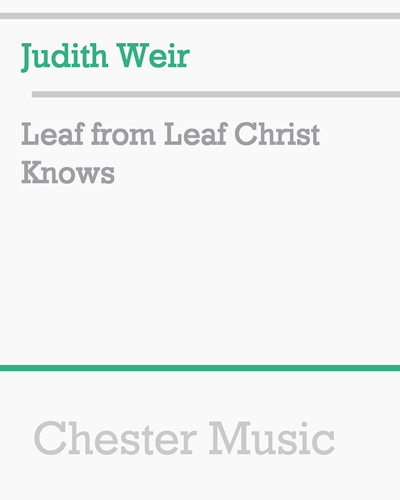 Leaf from Leaf Christ Knows