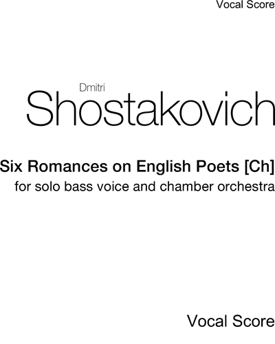 Six Romances on English Poets [Ch]