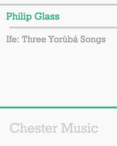 Ifè: Three Yorùbá Songs