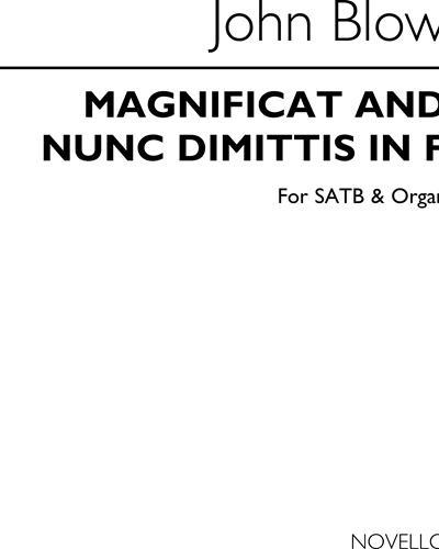 Magnificat and Nunc Dimittis in F for SATB & Organ