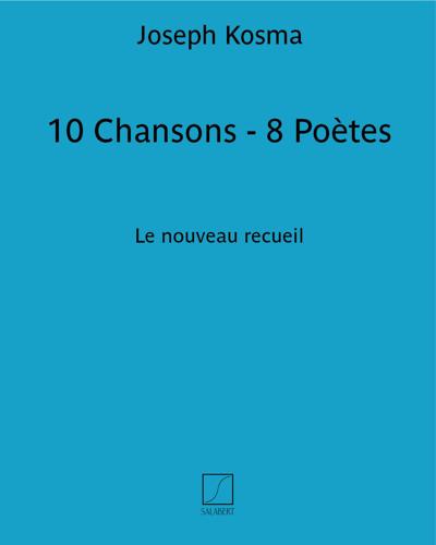 10 Chansons - 8 Poètes