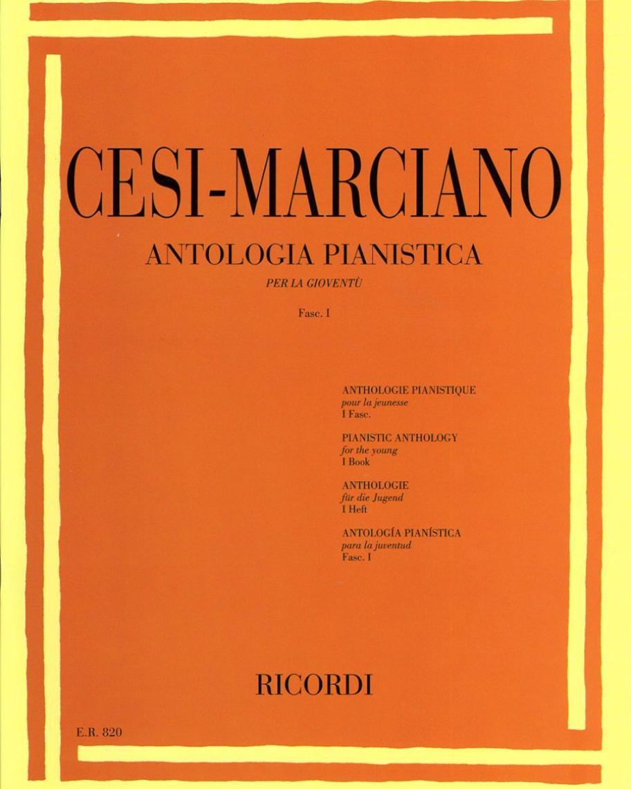 Antologia pianistica per la gioventù Fascicolo 1