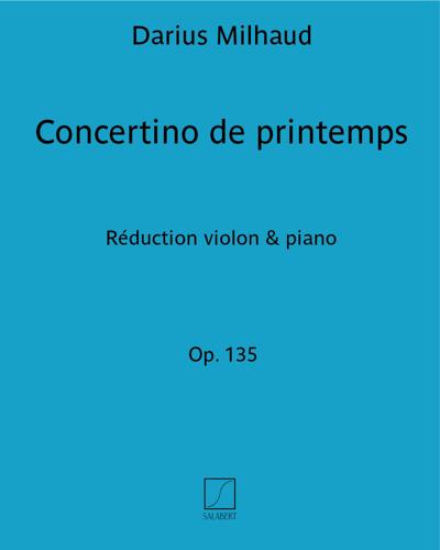 Concertino de printemps Op. 135