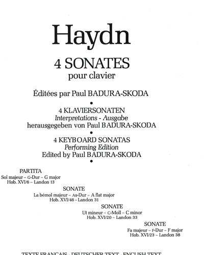 Sonata in A flat Major Hob. 16:46 in A flat major (Vol. 2)