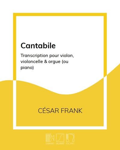 """Cantabile (extrait des """"Pièces d'orgue"""")"""