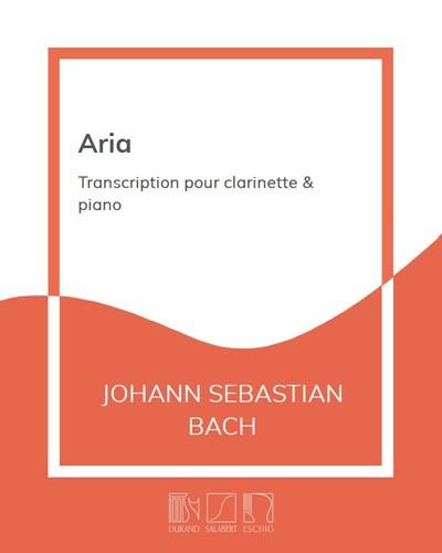 """Aria (extraite de la """"Suite en Ré"""" BWV 1068)"""