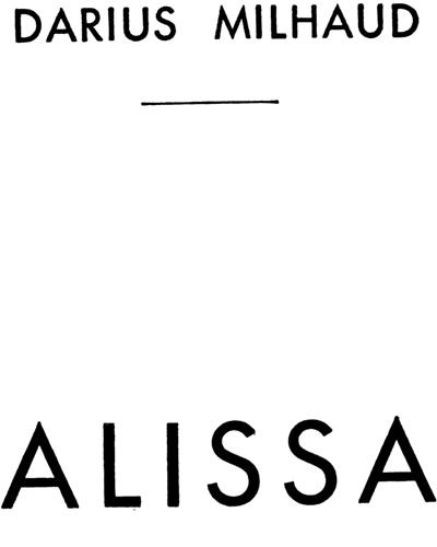 Alissa Op. 9