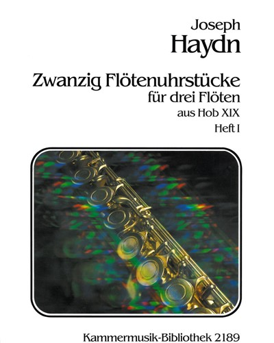 20 Flötenuhrstücke aus Hob XIX - Heft I