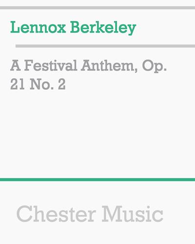 A Festival Anthem, Op. 21 No. 2