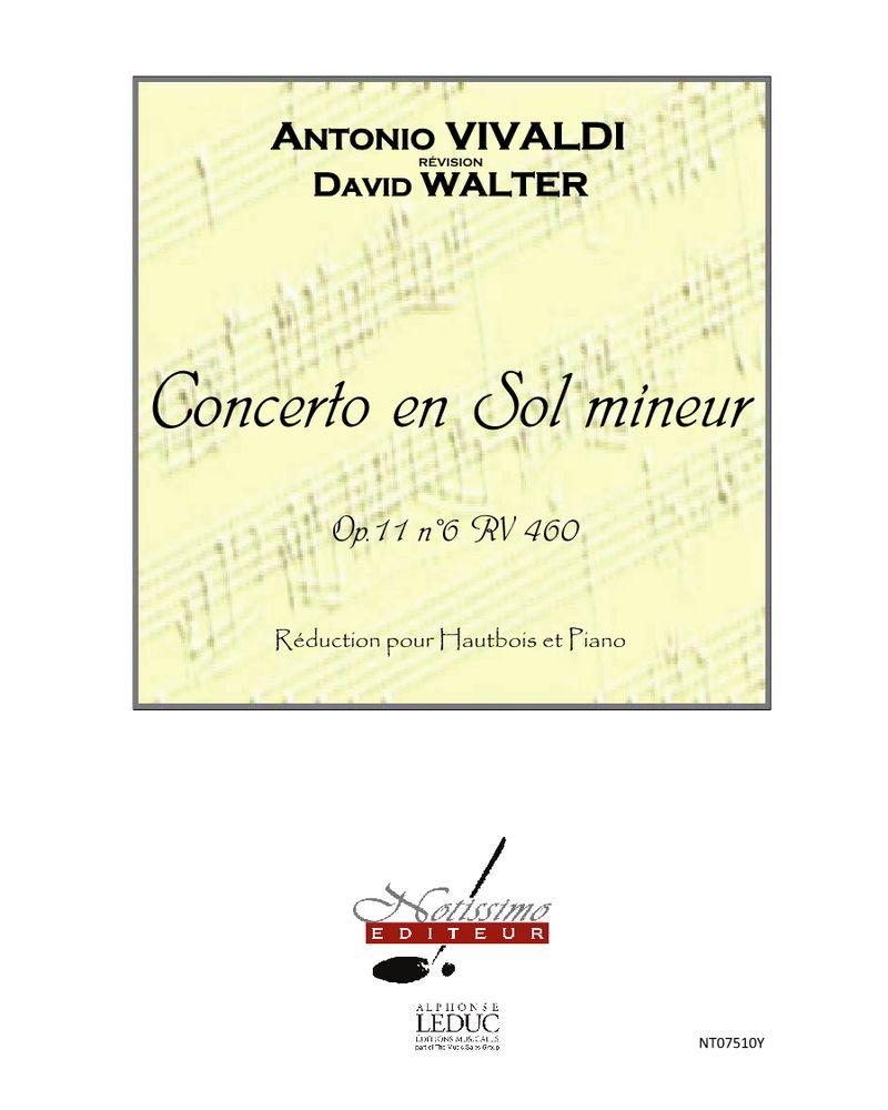 Concerto en Sol mineur, Op. 11/6, RV 460