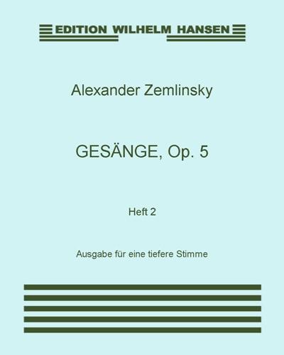 Gesänge, Op. 5: Heft 2