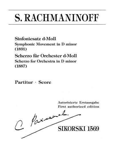 Symphonic Movement (1891) / Scherzo for Orchestra (1887)
