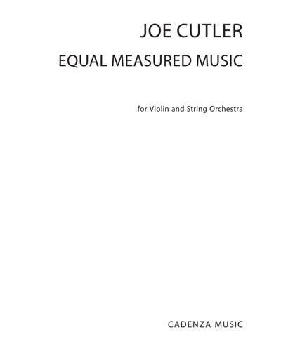 Equal Measured Music