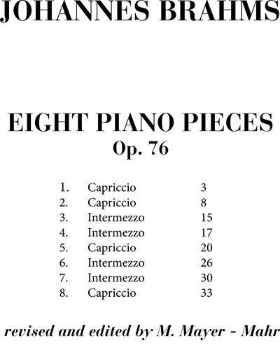 Eight piano pieces Op. 76