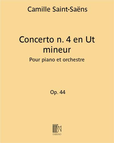 Concerto n. 4 en Ut mineur Op. 44 - Pour piano et orchestre