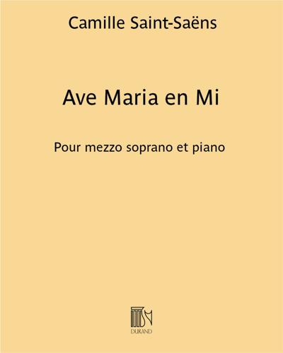 Ave Maria en Mi
