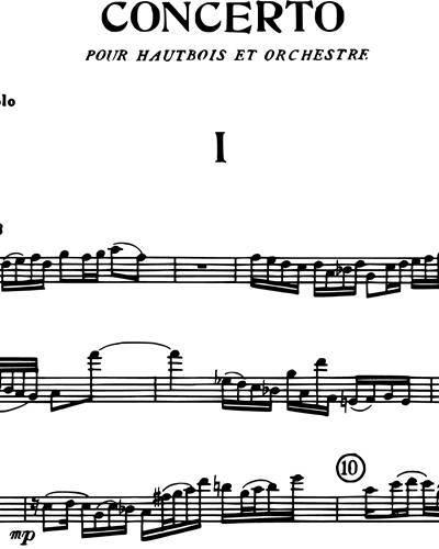 Concerto for Oboe Op. 365