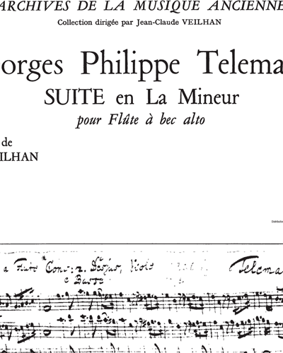 Suite in A minor (Archives De La Musique Ancienne)