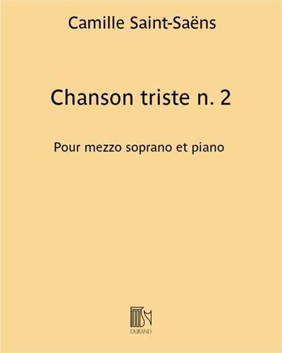 Chanson triste n. 2