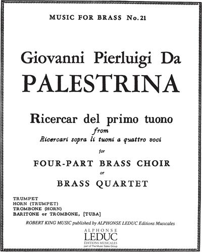 """Ricercar del primo tuono (from """"Ricercari sopra li tuoni a quattro voci"""")"""