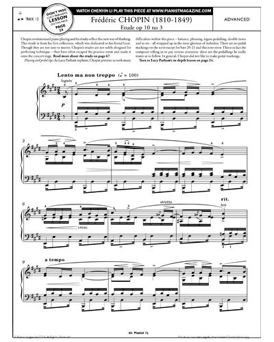 Etude, Op.10 No.3