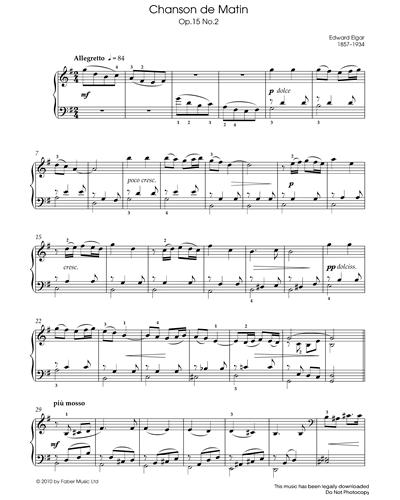 Chanson de Matin Op.15, No.2