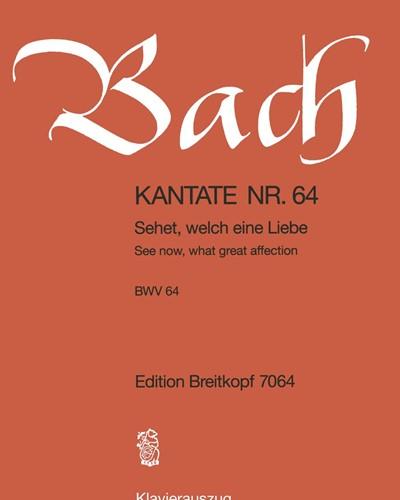 """Kantate BWV 64 """"Sehet, welch eine Liebe hat uns der Vater erzeiget"""""""