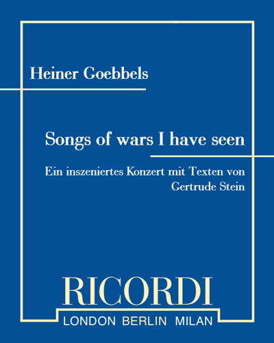 Songs of wars I have seen