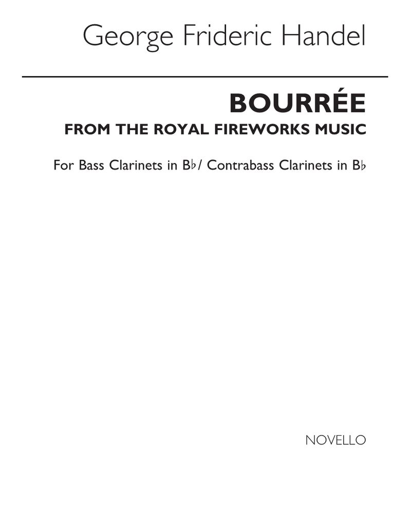 "Bourrée (from ""The Royal Fireworks Music"")"