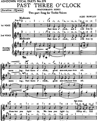 Past Three o'Clock (Watchman's Song)