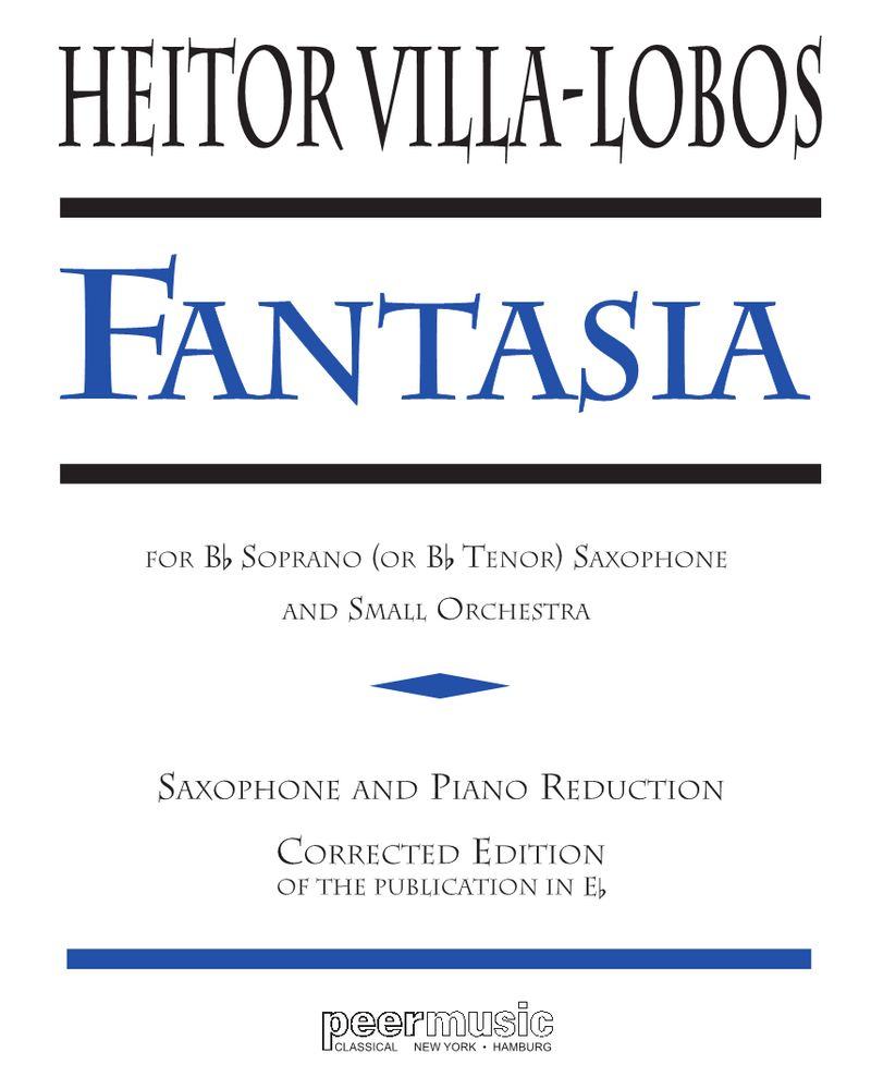 Fantasia for Saxophone and Small Orchestra