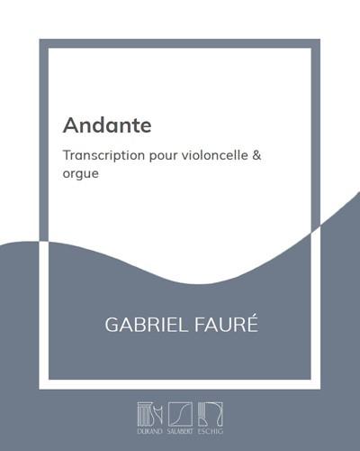 """Andante (extrait de la """"Deuxième Sonate"""" pour violoncelle & piano)"""