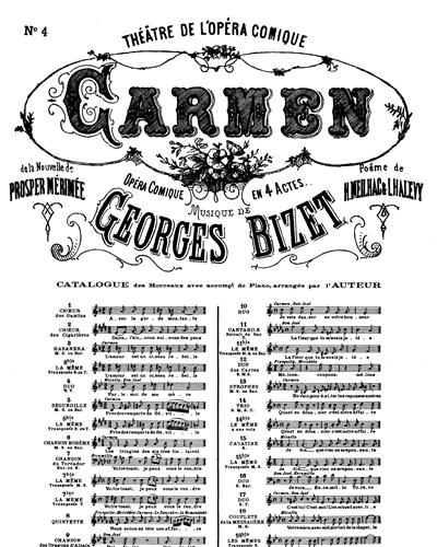 Carmen No. 4 Duo Parle-moi De Ma Mère