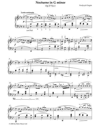 Nocturne in G Minor Op.37 No.1
