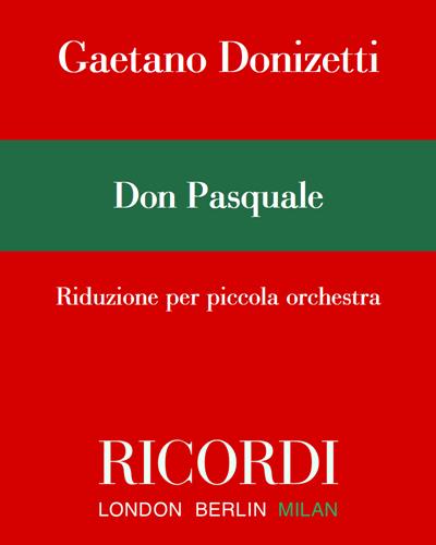 Don Pasquale - Riduzione per piccola orchestra